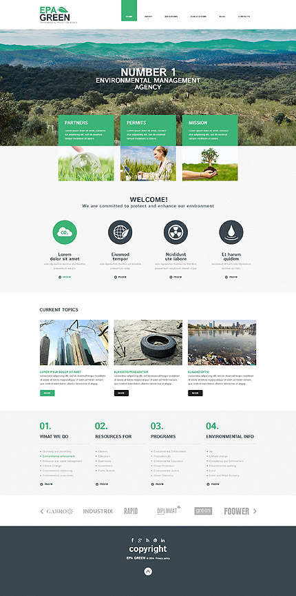 Environmental Protection Agency WordPress Theme