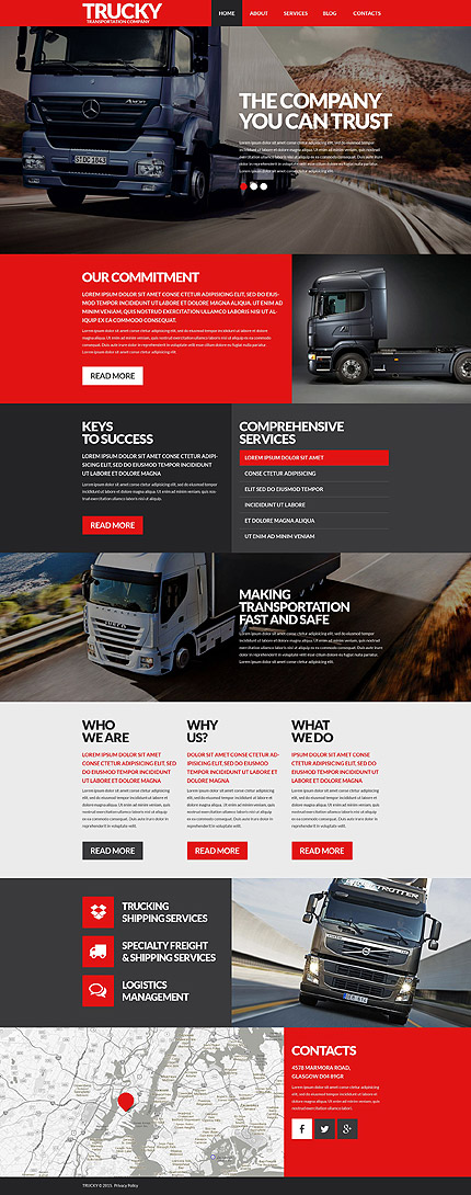 Logistics WP Theme