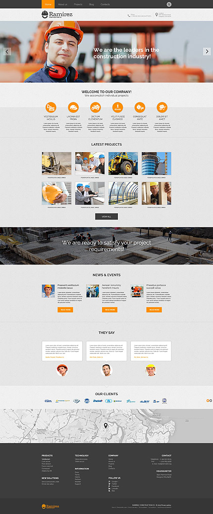 Construction Company WP Theme